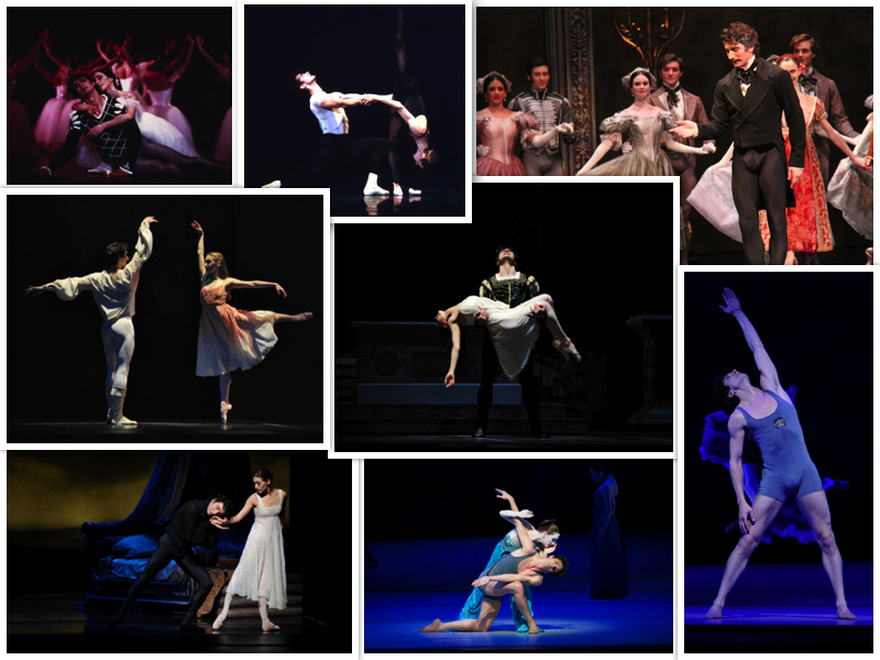 Partners pictured: Sofiane Sylve, Sarah Van Patten, Joana Berman   Ballets/Choreographers: Balanchine's Stravinsky Violin Concerto; Cranko's Onegin; Neumeier's The Little Mermaid; Tomasson's Giselle, Romeo & Juliet  Photographers include: Erik Tomasson, Chris Hardy, Lloyd Englert, Estelle Chauvey.