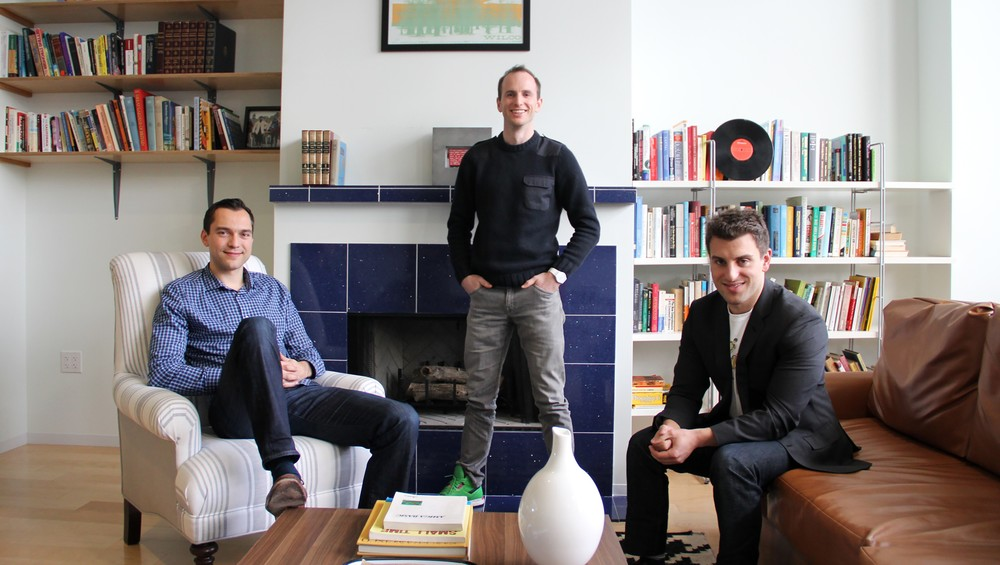 Airbnb cofounders Nathan Blecharcyzk, Joe Gebbia and Brian Chesky - Courtsey of Forbes.com