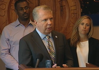 Seattle Mayor Ed Murray announcing the news Monday.