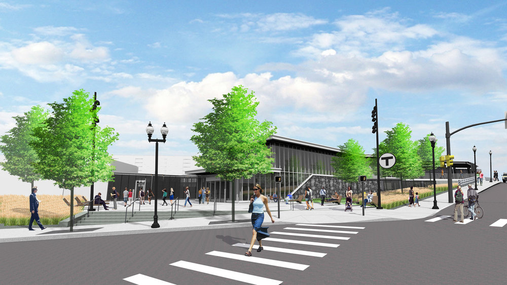 Ball Square GLX Station - Green Line Extension project Plans