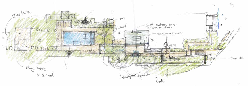 Conceptual Sketch by Arterra Landscape Architects