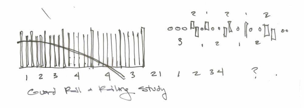 Conceptual Railing Study by Arterra Landscape Architects
