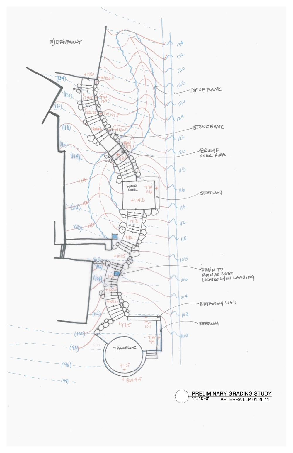 Grading Study by Arterra Landscape Architects