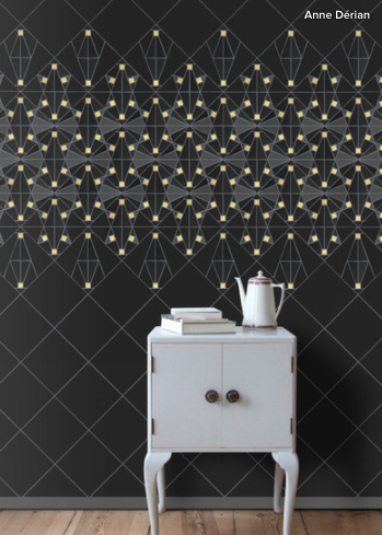 We love these modern tile patterns by Anne Dérian,   via Houzz