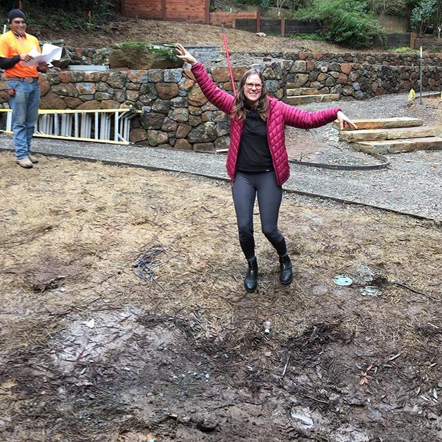 When your enthusiastic client is a tree. Looking forward to trees going in next week!  #plantlayout #plantingdesign #landscapearchitecture #sitevisit