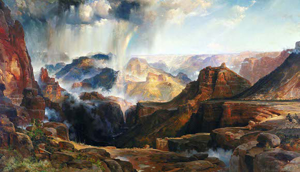 """Thomas Moran, """"Chasm of the Colorado"""", Oil on canvas, 84 3/8 x 114 3/4 in., circa 1873 
