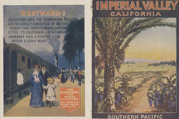 """""""Imperial Valley California"""", Southern Pacific Railroad pamphlet, front and back cover, 1908 