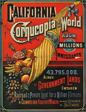 """California: The Cornucopia of the World"", 1876 
