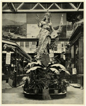 Statue of California, California Building, Chicago World's Fair, 1893