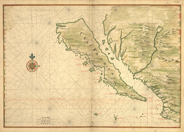 Map of California shown as an island, Joan Vinckeboons, 1650 | Courtesy of Geography and Map Division, Library of Congress