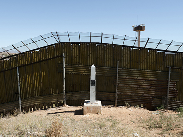 Border Monument No. 121 - N31º19.965' W110º56.337', 2010 | Photo courtesy of David Taylor