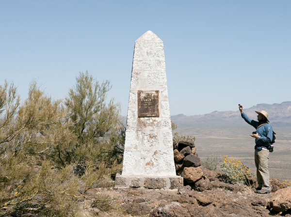 Border Monument No. 160 - N31º47.656' W112º32.281', 2012 |Photo courtesy of David Taylor