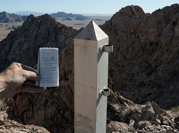 Border Monument No. 186 - N32º11.023' W113º47.781', 2012 | Photo courtesy of David Taylor
