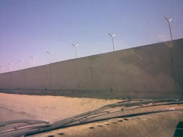 The wall between Iran and the Pakistan province of Balochistan. | Photo courtesy of gwank.org