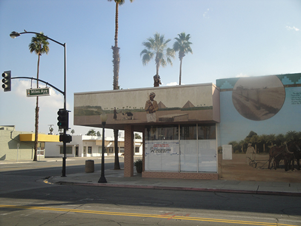 Date mural detail at the corner of Miles and Oasis in Indio, California | Photograph by Margo McCormick
