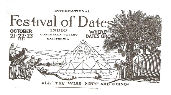 First International Festival of Dates Pamphlet, 1921 | Courtesy of the Coachella Valley History Museum
