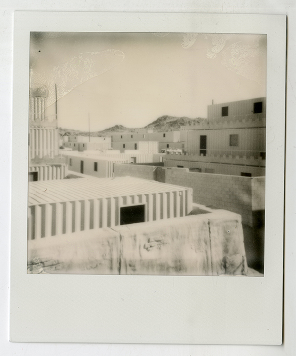Twentynine Palms MCAGCC mock village. | Polaroid by Claudia Martinez Mansell, 2013
