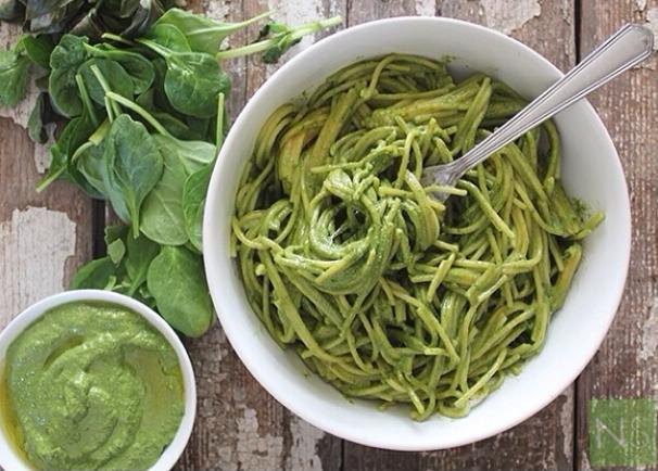 Spinach Basil Pesto, Nutrition Stripped