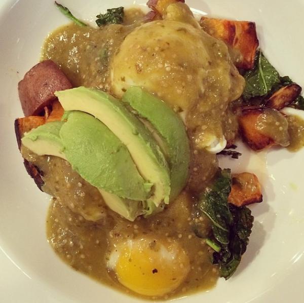 Vegetarian Eggs Benedict, Emerson Hotel