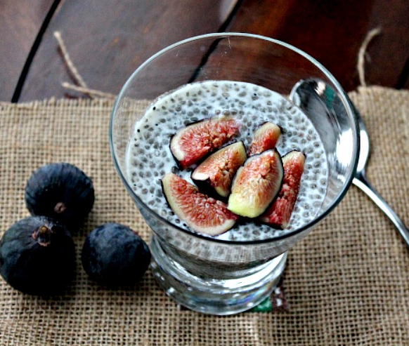 Fig & Coconut Chia Pudding, courtesy of Soni's Food