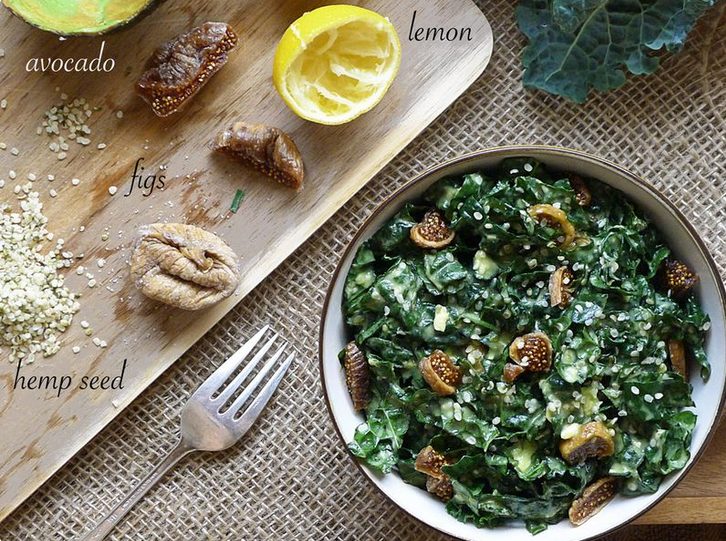 Kale and Fig Salad, courtesy of In The Kitchen With Amy Jo