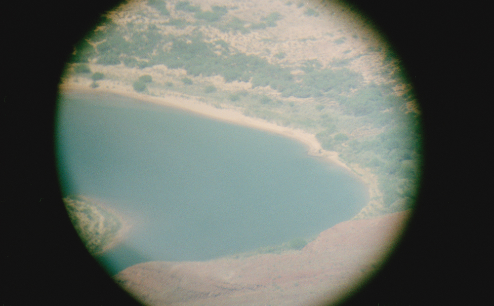 The Grand Canyon through a telescope.