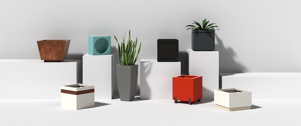 Aluminum Metal Cube Containers and Planters