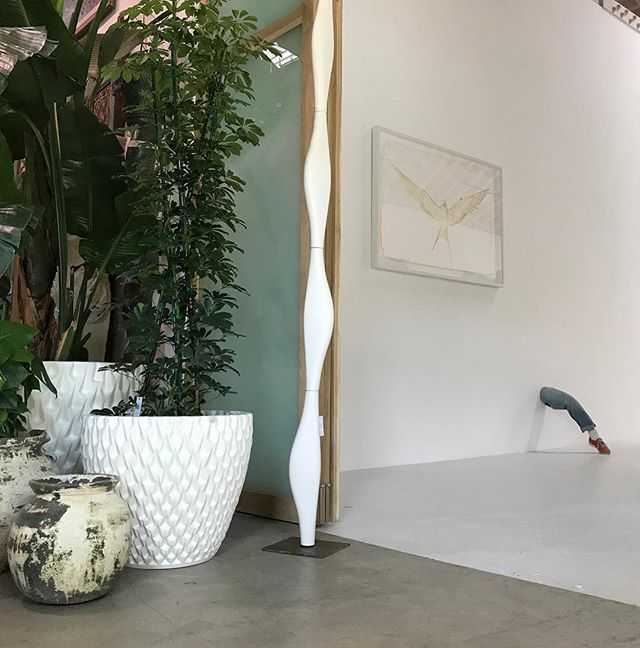 Come to Visit our showroom and the new art show @guerrerogallery by artist @adam5100 we are open Saturday 10-4. @vessel_usa we love your white pots and sculpture!