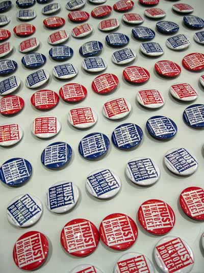 Stripes of TrustTheVote Buttons