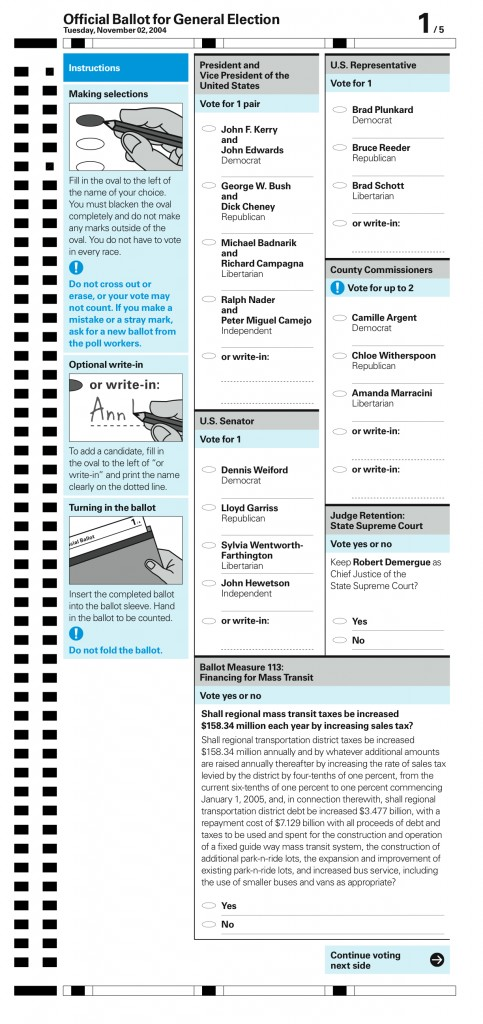 AIGA Optical-Scan Sample Ballot