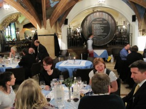 UOCAVA 2010 attendees dining in the Ratskeller Restaurant, Munich