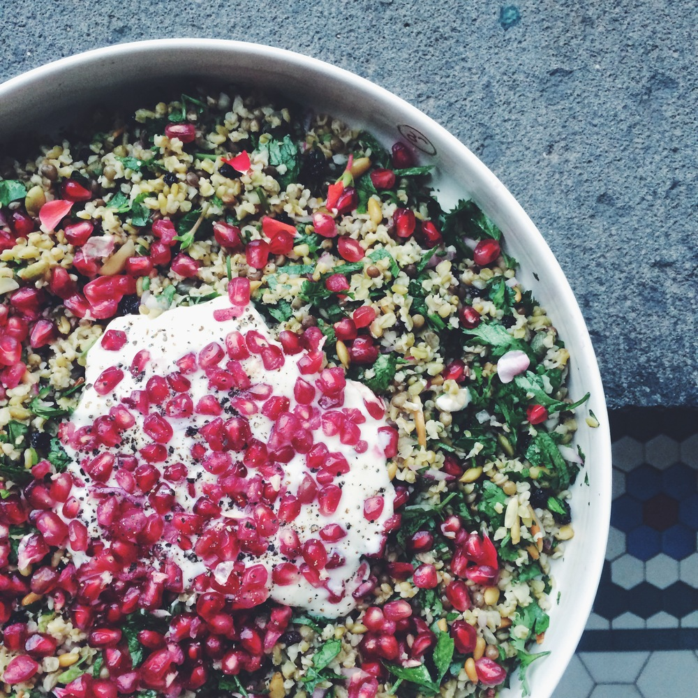 cypriot grain salad