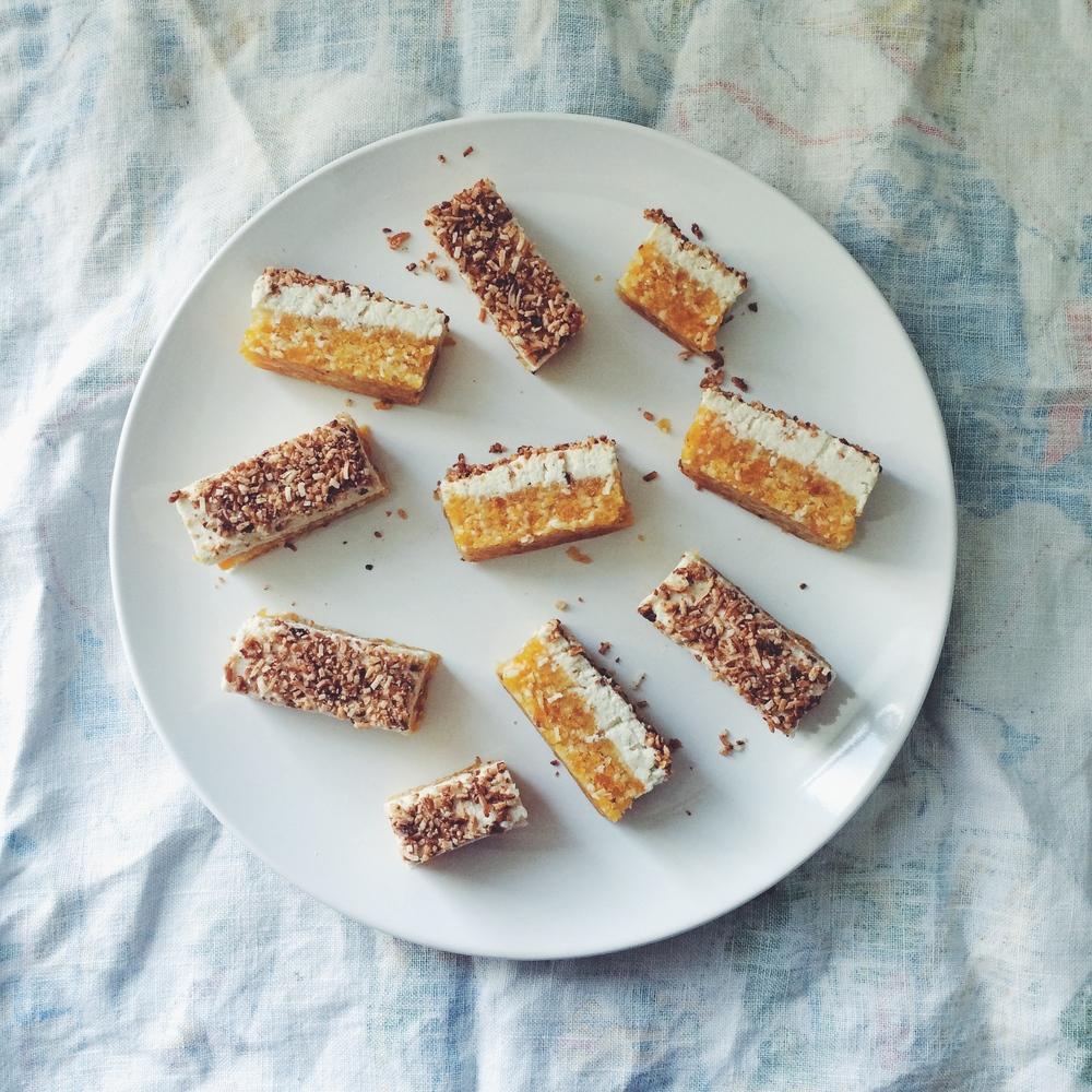 Apricot and Macadamia Raw Slice