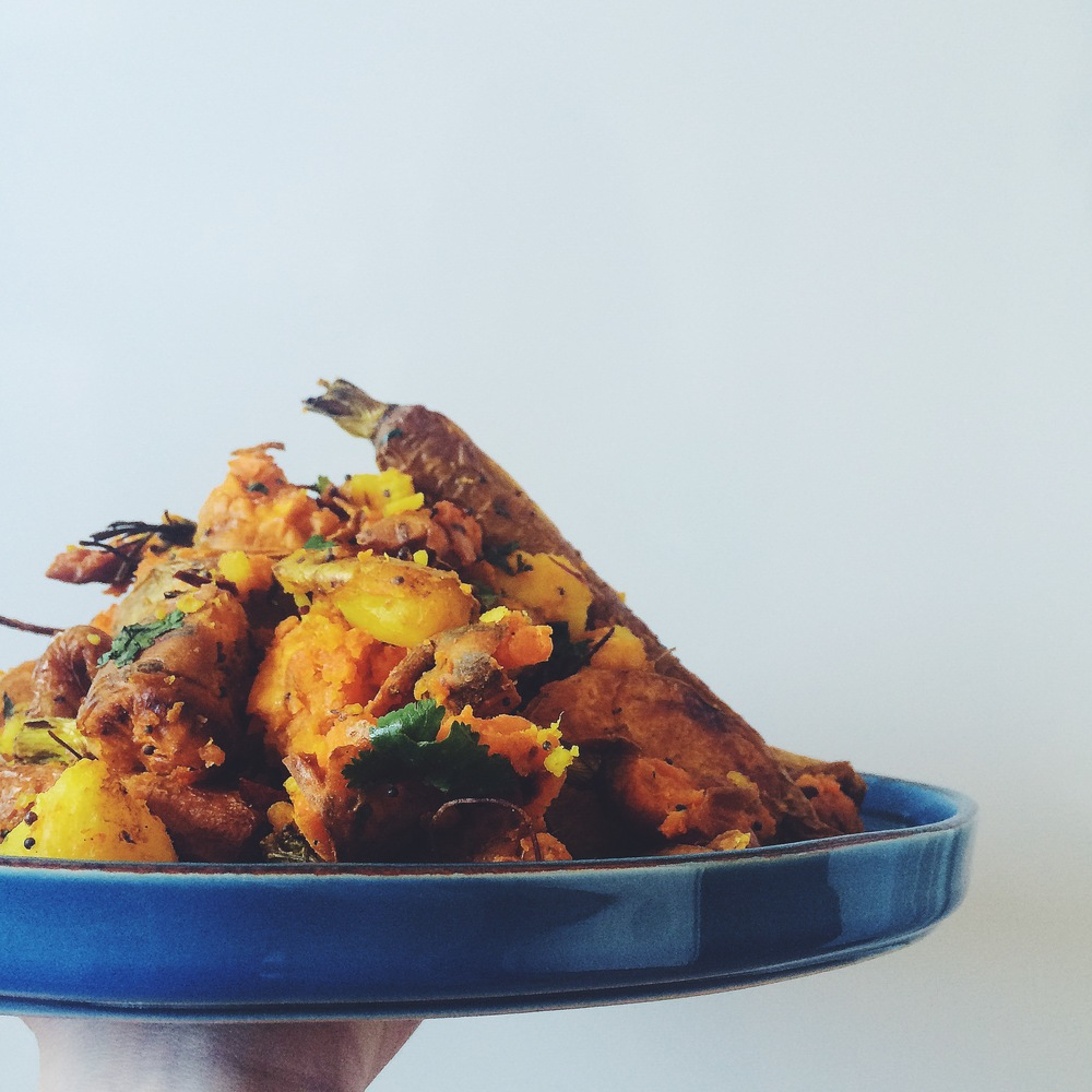 turmeric spiced vegetables