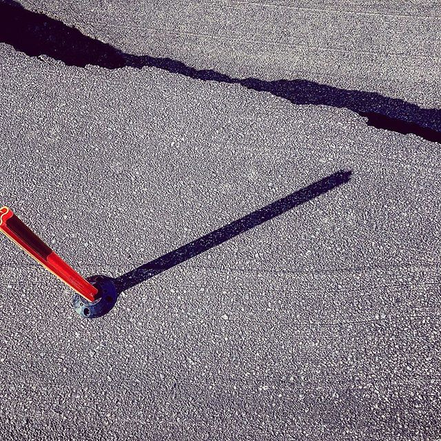 Crack in the road. #industrial #nature #manmade