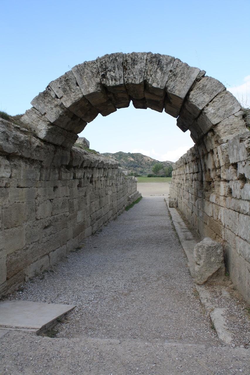 Walking in to the Stadium at Ancient Olympia, Greece