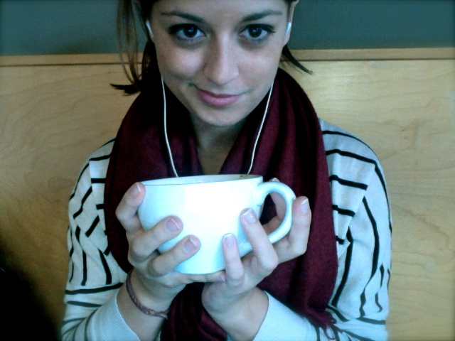 Sunday morning in my usual comfy study gear. Bon Iver in the ears. Still nursing last night's hangover. Hours and hours of homework ahead.