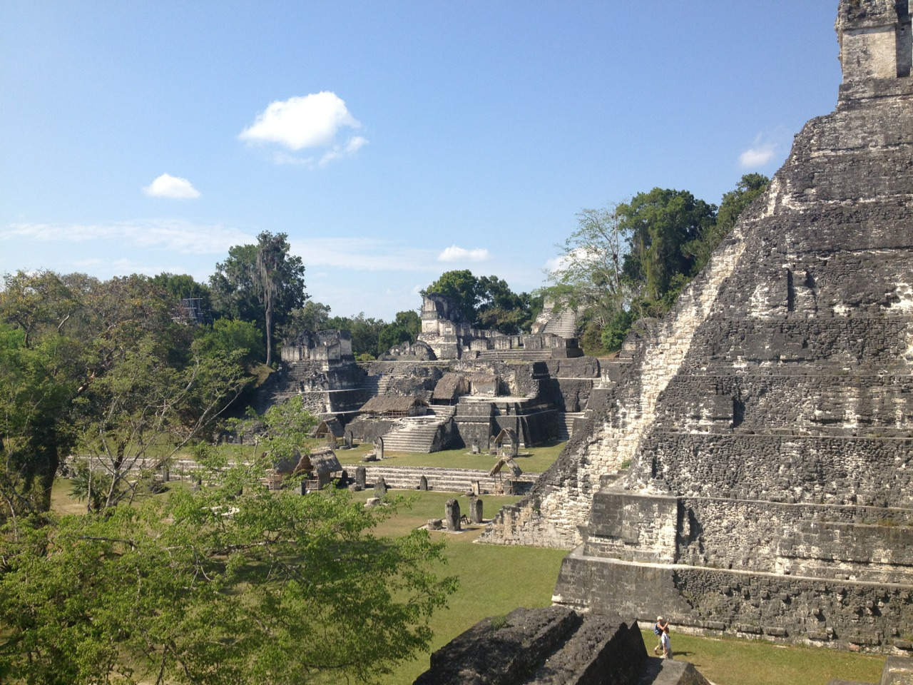 Tikal, Guatemala. Crossing the border from Belize was a total zoo. But after having to talk to 12 different border officers, paying at least half of them, and driving another hour and a half to Tikal it was totally worth it. Loving this vacation. We are so lucky.