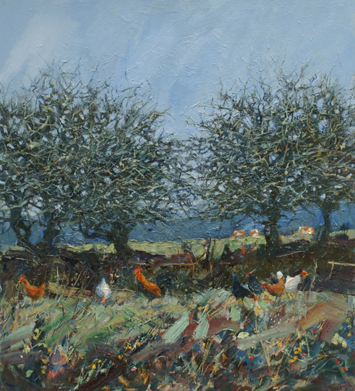 Blackthorn and Chickens