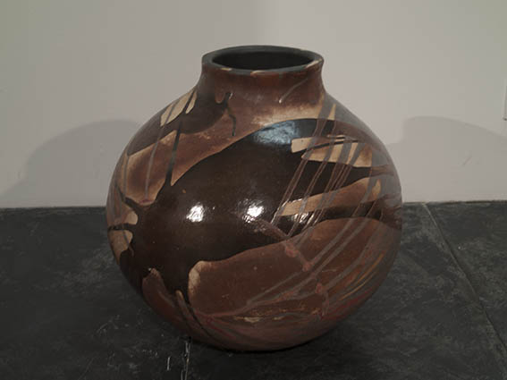 v large stoneware coil pot
