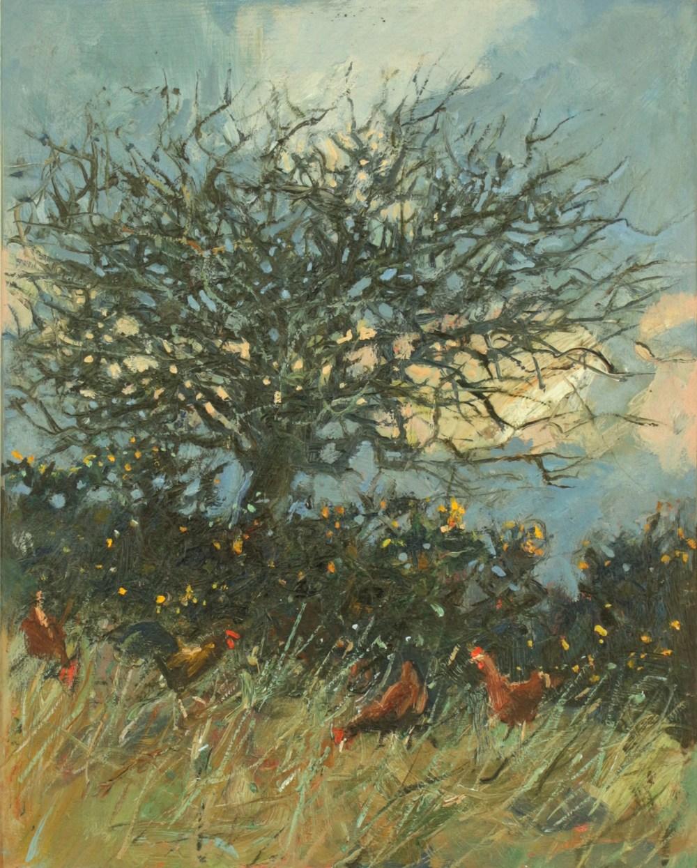 59. winter tree, evening