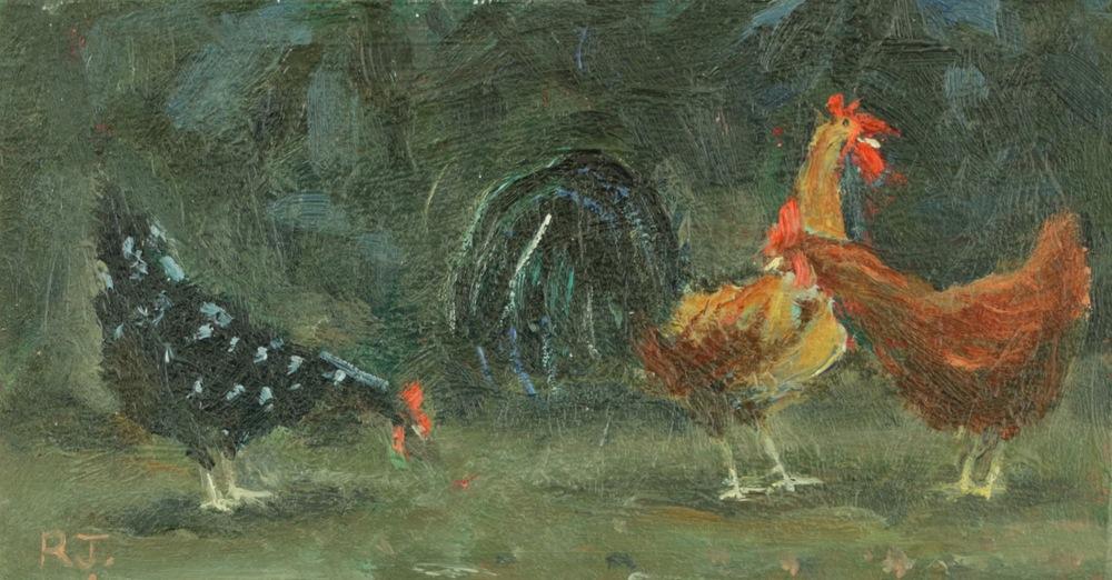 81. cockerel and hens ii