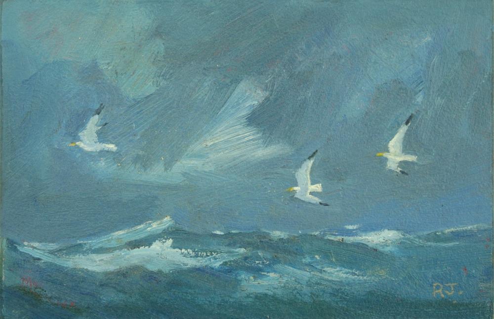 93. gulls at sea