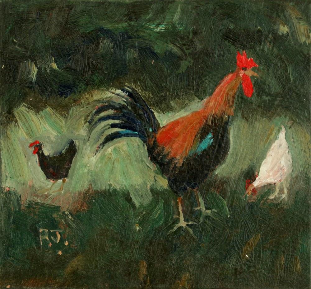 83. cockerel and hens III