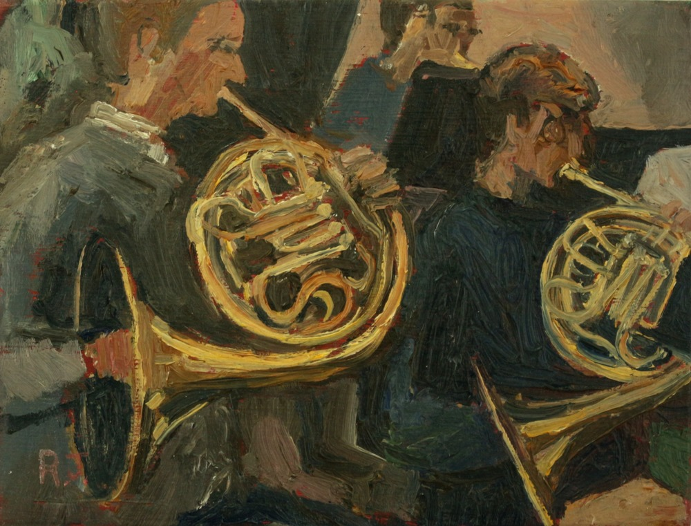 114. french horns?