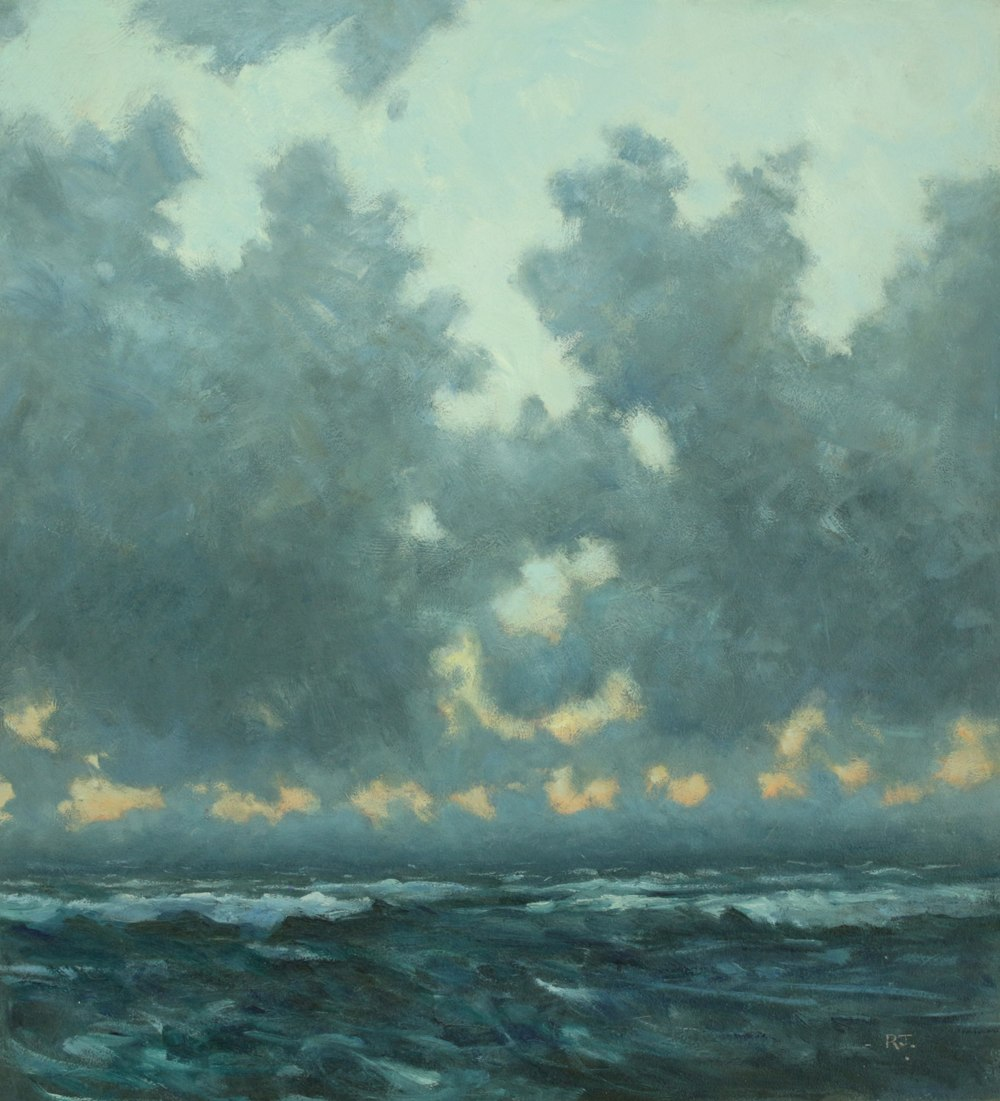 14. sea and clouds, dusk