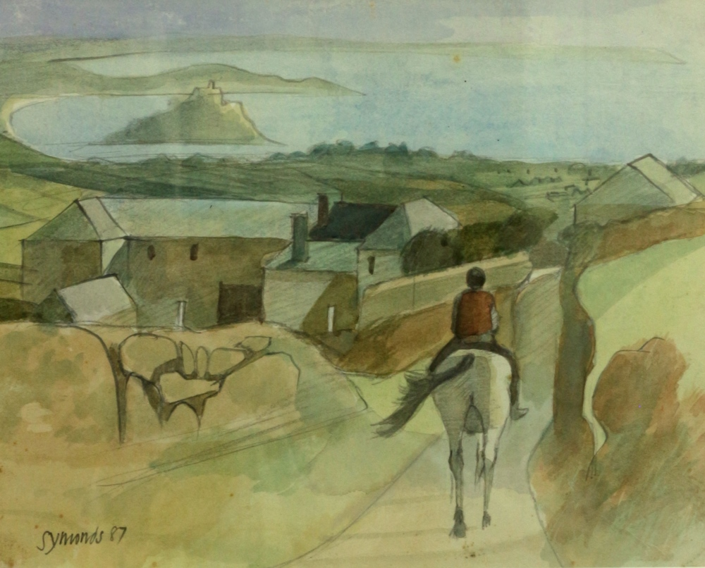Rider in Cornish Landscape