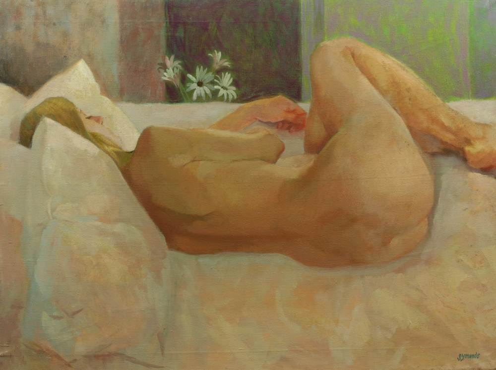Reclining Nude with Daisies