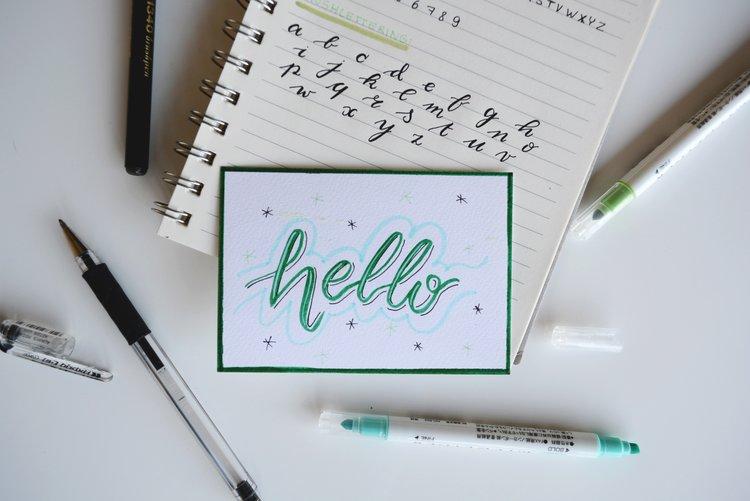 Beginner Handlettering The Chattery
