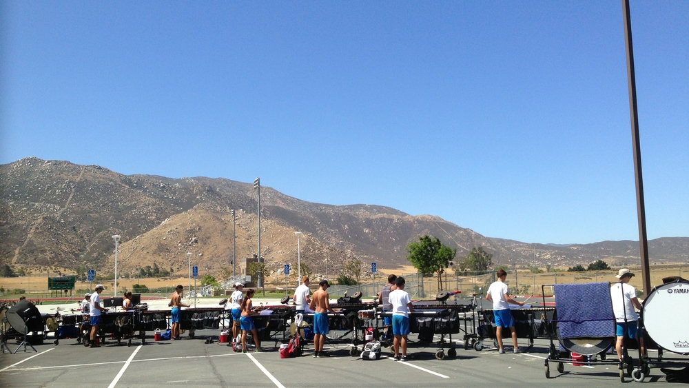 Carolina Crown 2013 Front Ensemble rehearsing in Banning, CA